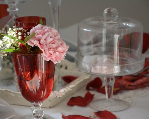 Hochzeitsdekoration Rot_Rosé
