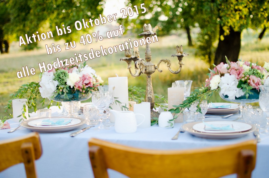 beautiful wedding table with decorations оutdoors