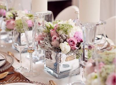 low-wedding-centerpieces